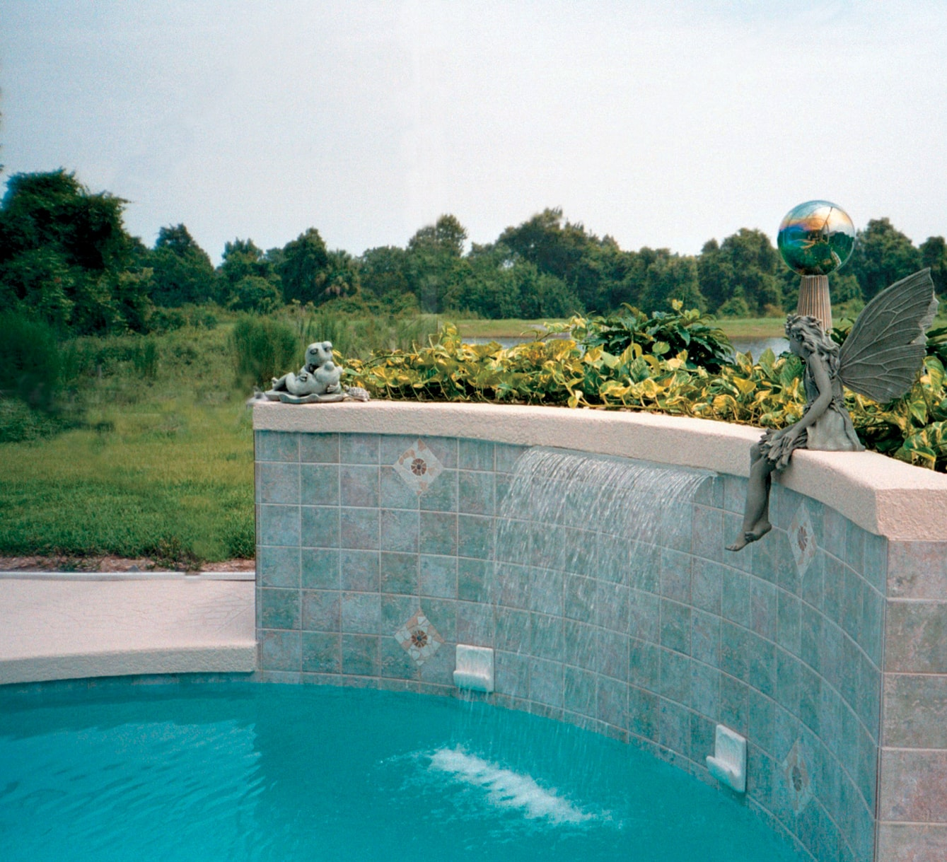 Swimming pool water features danna pools inc - Swimming pool waterfalls water features ...