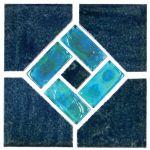 Aqua Marine Blue Lagoon Deco - 6x6