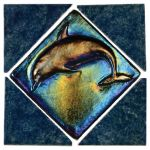 Aqua Marine Blue Lagoon Deco Dolphin - 6x6