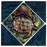 Aqua Marine Blue Lagoon Deco Turtle - 6x6