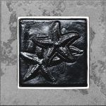 Black Deco Starfish - 6x6