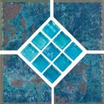 Borba Turquoise Deco - 6x6