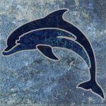 Moorea Lapis Blue Deco 1 - 6x6